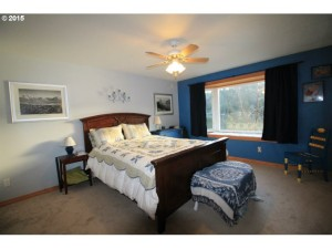 Large master suite faces Fishhawk Lake